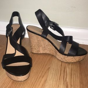Franco Sarto strappy wedge, worn ONCE